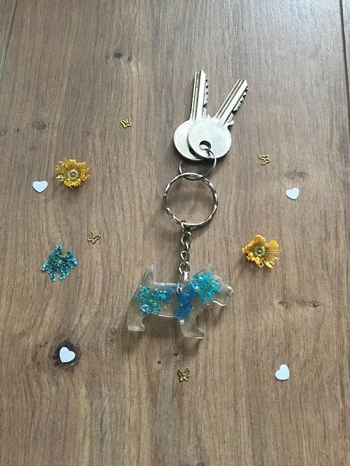 Image of Handmade Personalised Scottie Dog Keyring