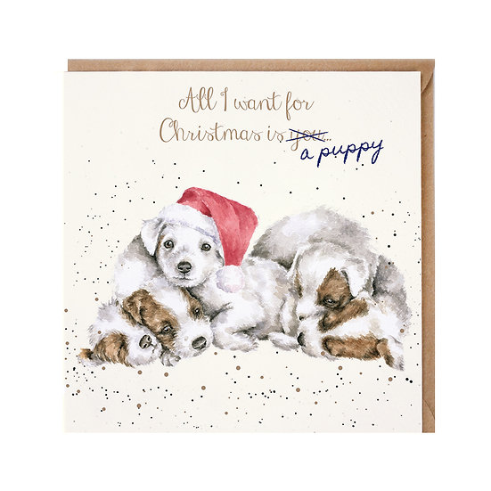 Image of All I Want for Christmas Card by Wrendale Designs