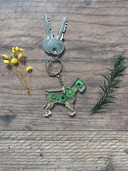 Image of Handmade Personalised Schnauzer Dog Keyring