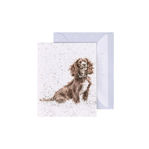 Image of Wrendale Designs 'Obedience' Spaniel Dog Mini Greetings Card