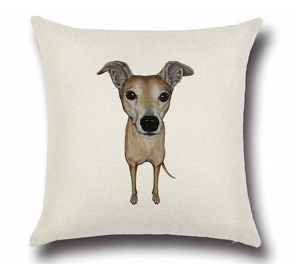 Greyhound Whippet Dog Cushion Cover