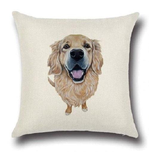 Golden Retriever Puppy Dog Cushion Cover