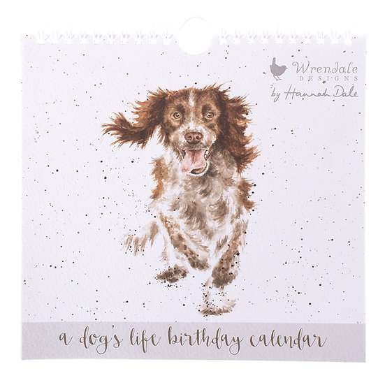 BC003 Wrendale Designs A Dogs Life Birthday Calendar Front View