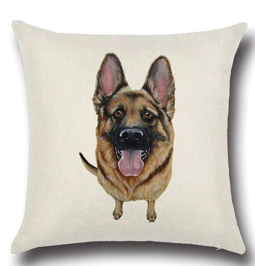 German Sheperd Dog Cushion Cover