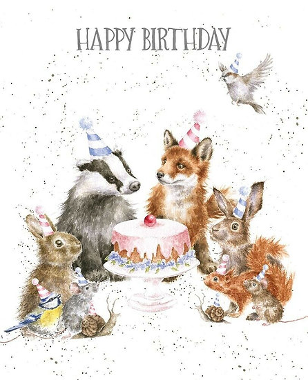 Wrendale Designs 'Woodland Party' Animal Greetings Card