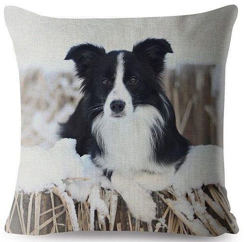 Border Collie Puppy Dog Cushion Cover