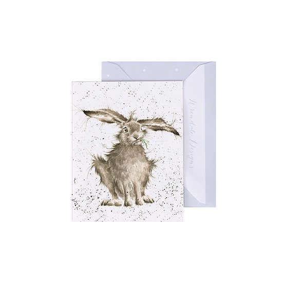 Image of Wrendale Designs 'Hare-Brained' Mini Greetings Card