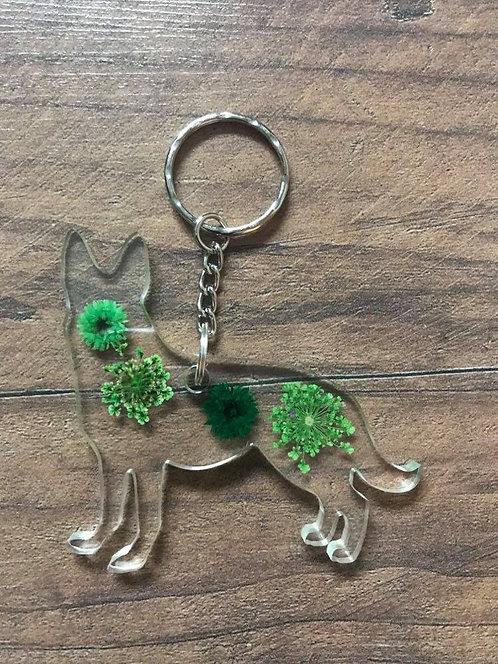 Image of Handmade Personalised Alsatian Dog Keyring
