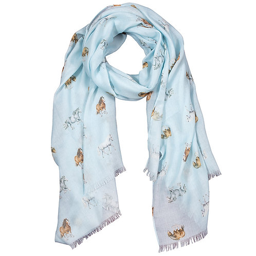 Image of Wrendale Designs Feather and Forelock Horse Scarf