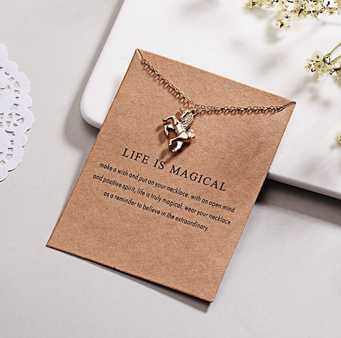 Image of Life is Magical Unicorn Necklace