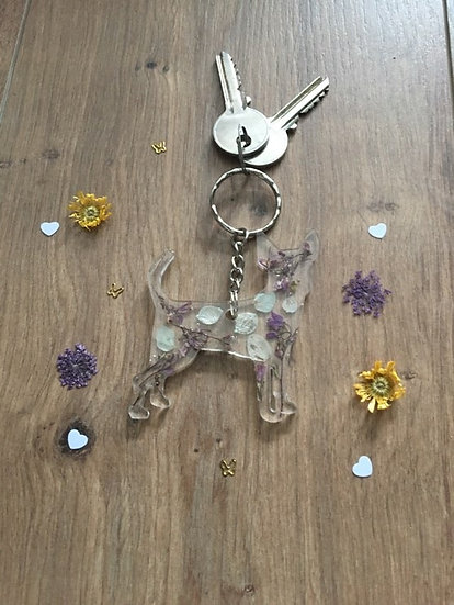 Handmade Chihuahua Dog Resin Keyring Main