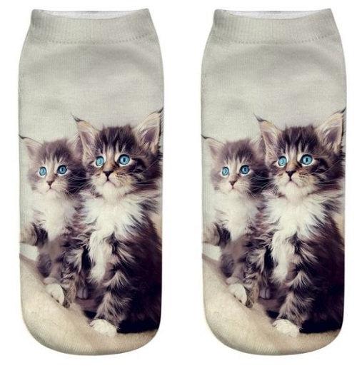Tabby Cat Kitten Trainer Socks
