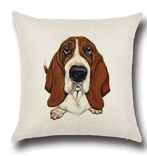 Image of Basset Hound Puppy Dog Cushion Cover