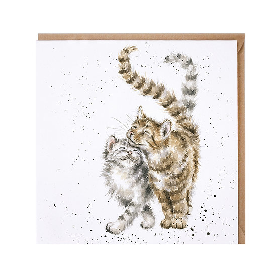 Image of 'Feline Good' Cat Greetings Card by Wrendale Designs