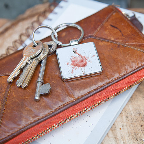 Image of Pretty in Pink Flamingo Keyring
