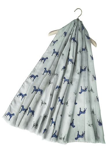 Image of Grey Dalmatian and Great Dane Dog Print Scarf by Furever Gifts