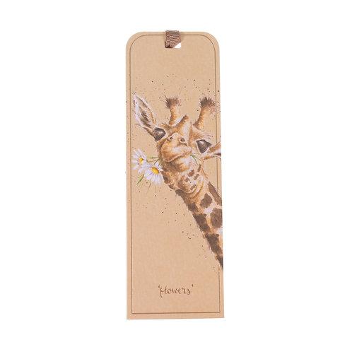 Image of Wrendale 'Flowers' Giraffe Bookmark