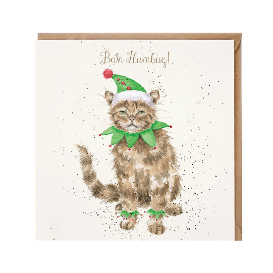 Image of Bah Humbug Christmas Card by Wrendale Designs