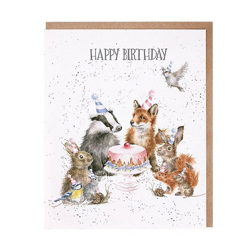 Image of Wrendale Designs 'Woodland Party' Animal Greetings Card