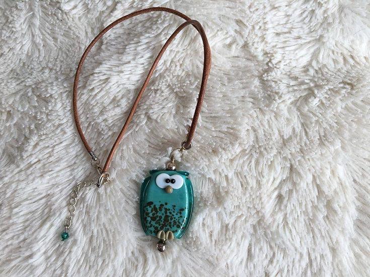 Handmade Owl Pendant Necklace Main View