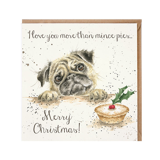 Image of Mince Pies Christmas Card by Wrendale Designs