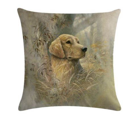 Image of Golden Labrador Dog Cushion Cover