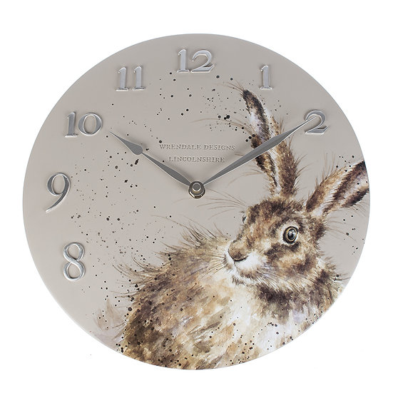 Image of Hare Wall Clock by Wrendale Designs