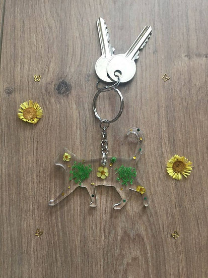 Image of Handmade Resin Cat Keyring
