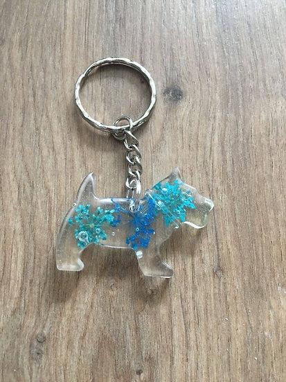 Image of Handmade Resin Scottie Dog Keyring