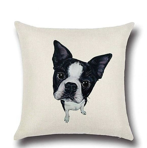 Image of Boston Terrier Dog Cushion Cover