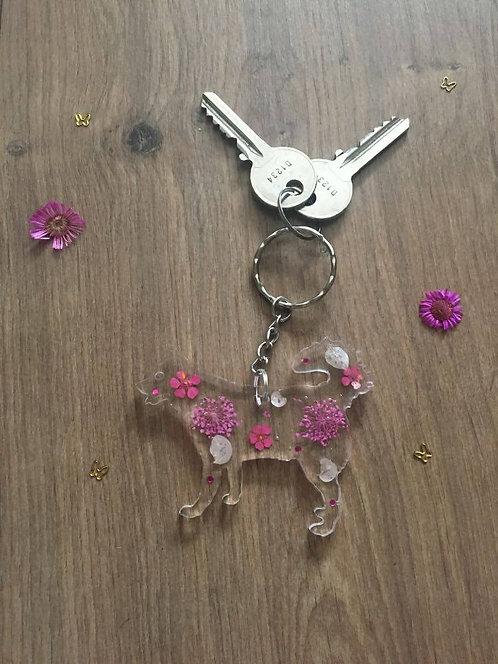 Image of Handmade Personalised Husky Keyring