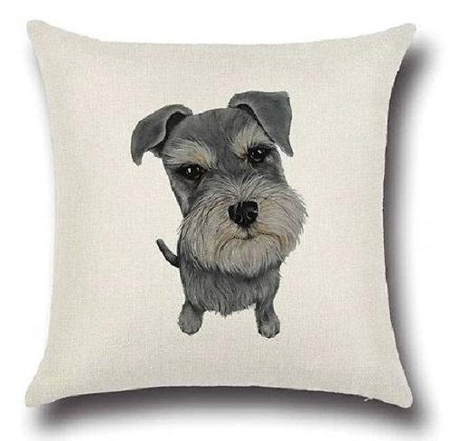 Image of Schnauzer Puppy Dog Cushion Cover