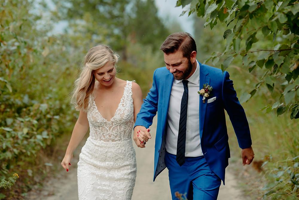whistler golf course wedding bride groom