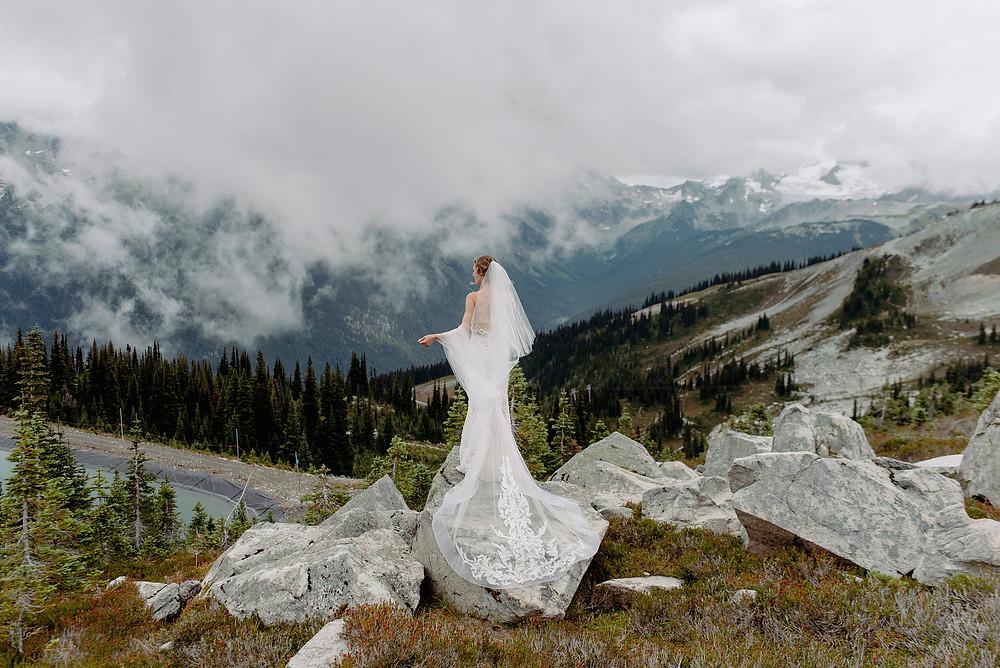 whistler blackcomb wedding bride portrait