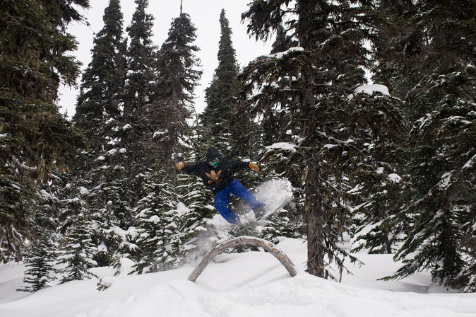 snowboarder-rides-rainbow-tree-whistler-blackcomb