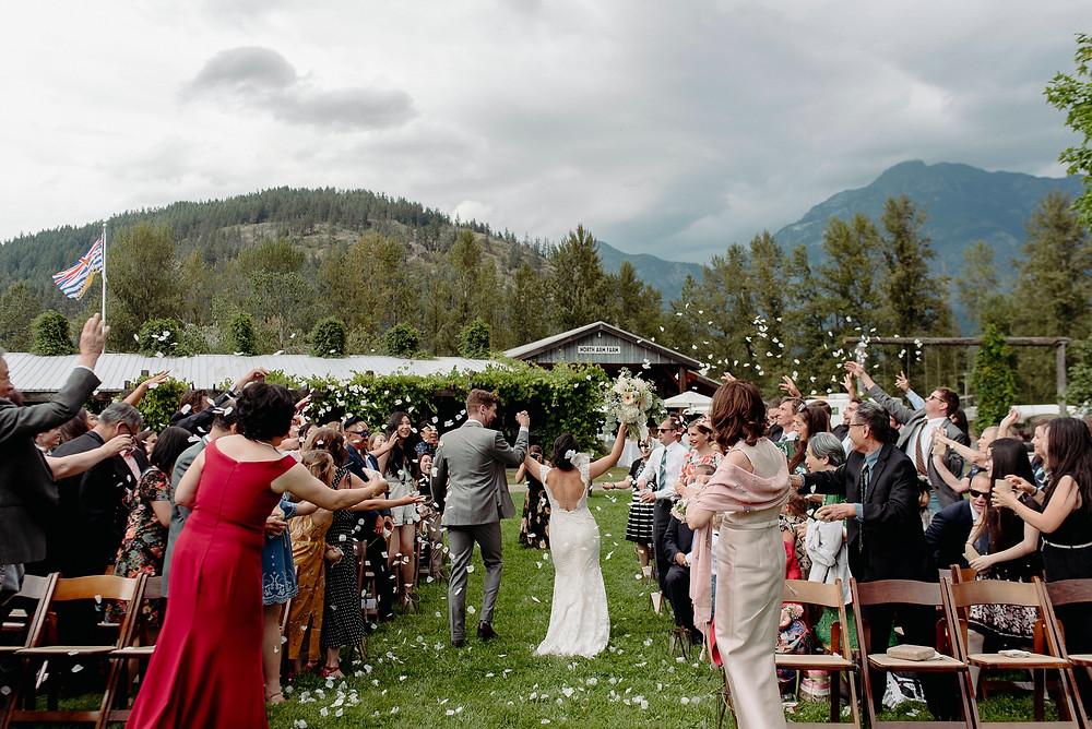 north arm farm wedding ceremony whistler