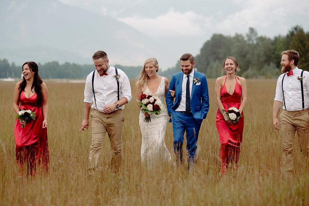 pemberton wedding bridal party field