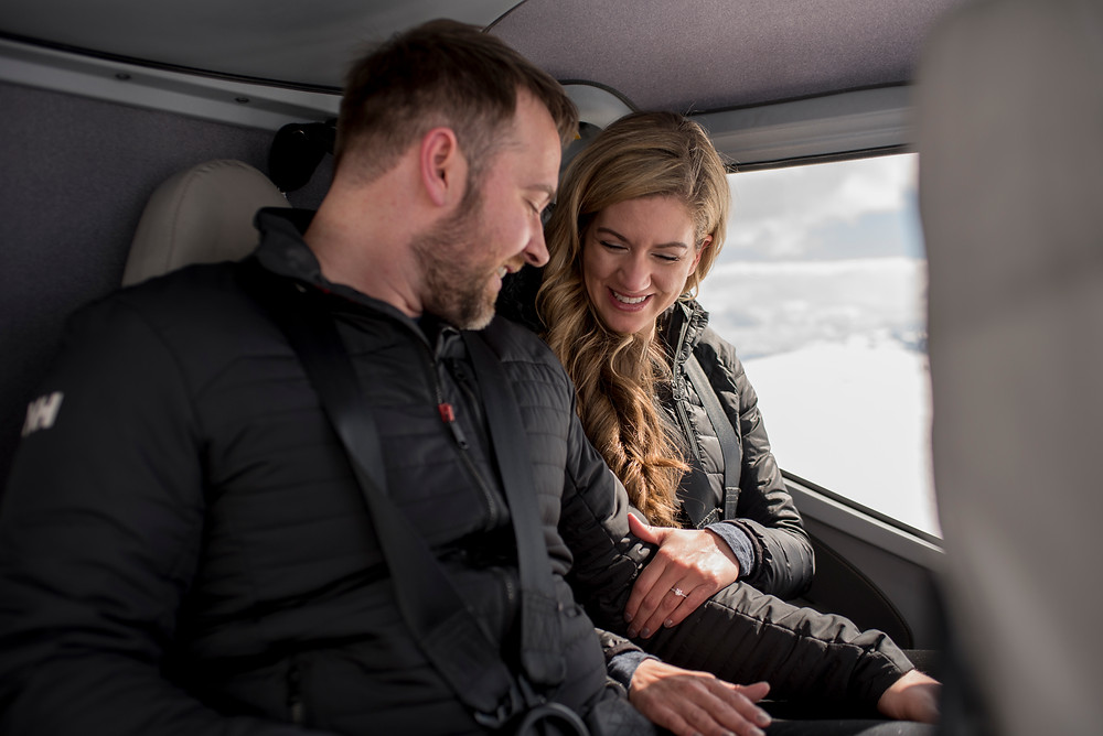 happy-engaged-couple-proposal-blackcomb-helicopters
