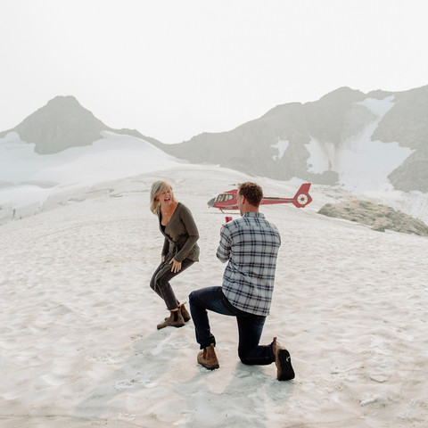 How to Plan for Your Whistler Helicopter Proposal | Whistler, BC | Janice Power Photography