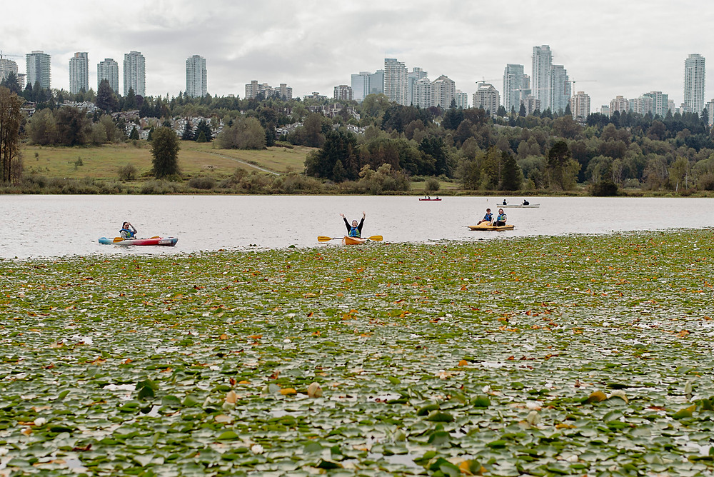 kayakers cheer on wedding from water vancouver