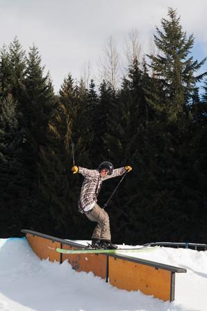 skier-slides-rail-whistler-blackcomb