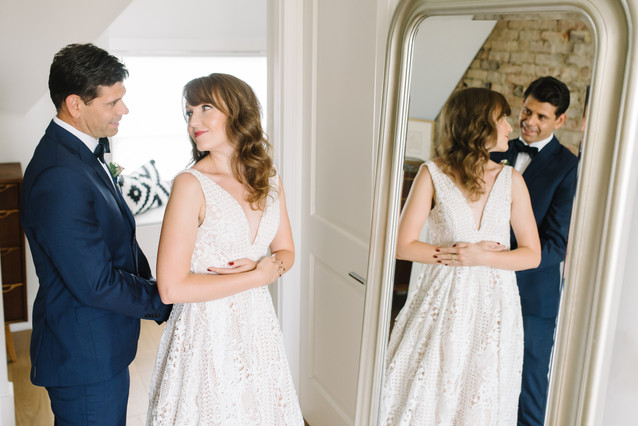 bride-groom-get-ready-for-elopement-together