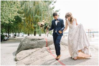 vancouver-bride-groom-excited-after-elopement-wedding