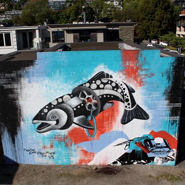 drainbow-trout-street-art-tess-sheerin-q