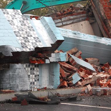 Giraffing Around Demolition Christchurch