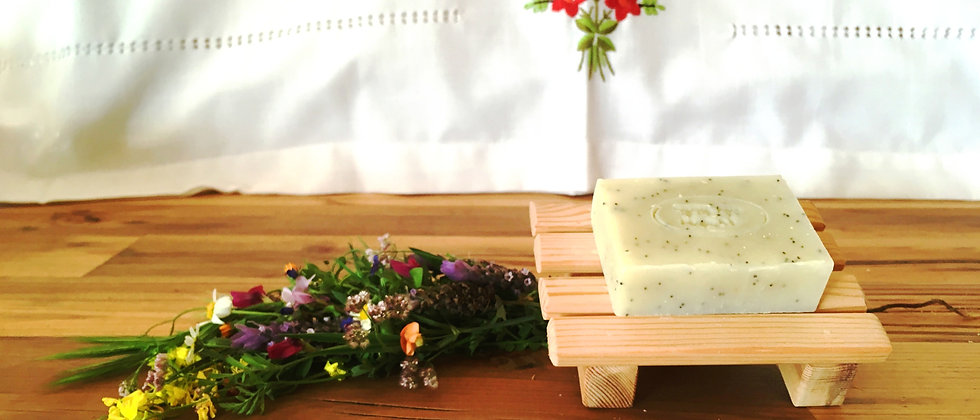 Natural Soap and Meir's Wooden Soap Dish
