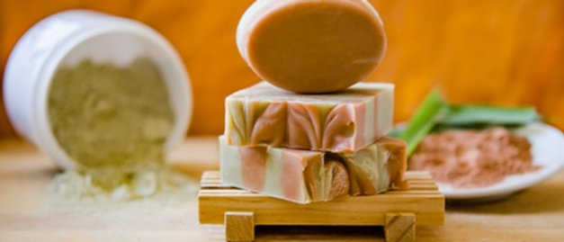 Zafroccan Green and Red Clay Soap