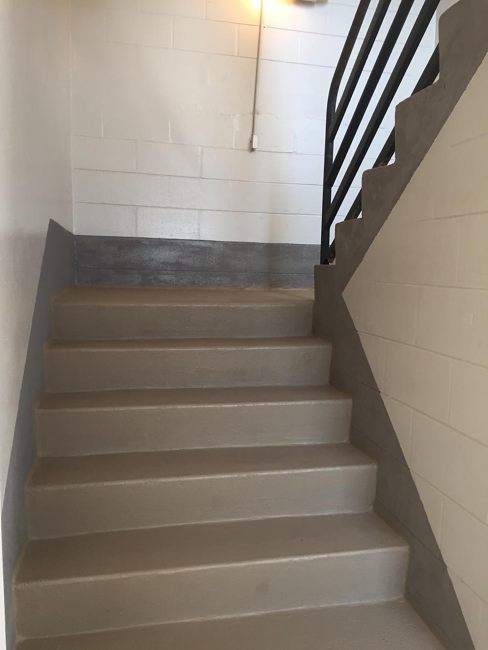 Freshly painted stairwells