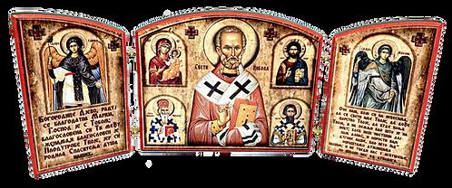 Triptych: St. Nicholas / Sveti Nikola, small icons