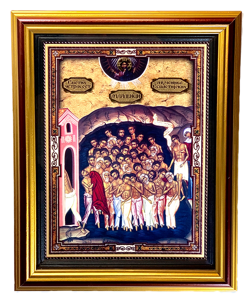 Forty Martyrs of Sebaste/Mladenci, large icon
